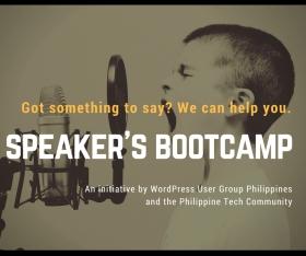 Speaker Bootcamp (organizer/facilitator)